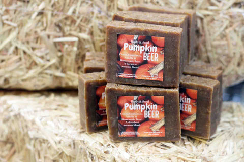 Pumpkin Beer Soap with Cinnamon, Clove & Homemade Ale