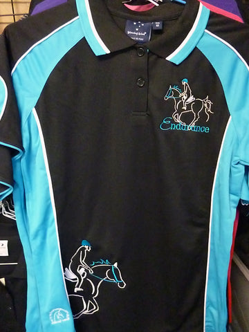 Black/Aqua size 12 ladies polo