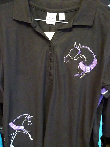 Black size 10 ladies polo