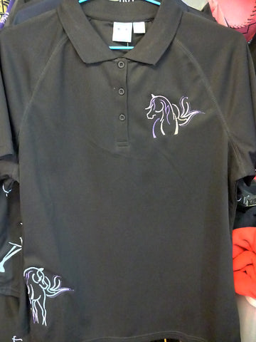 Black Ladies size 12 Polo shirt