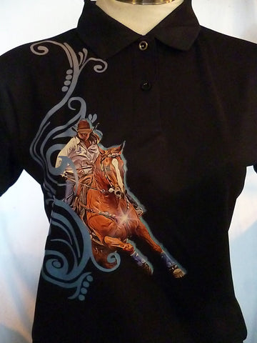 Black ladies size 12/Kids 14 Barrel Racing