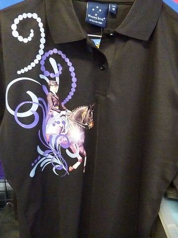 Black ladies size 14 dressage polo