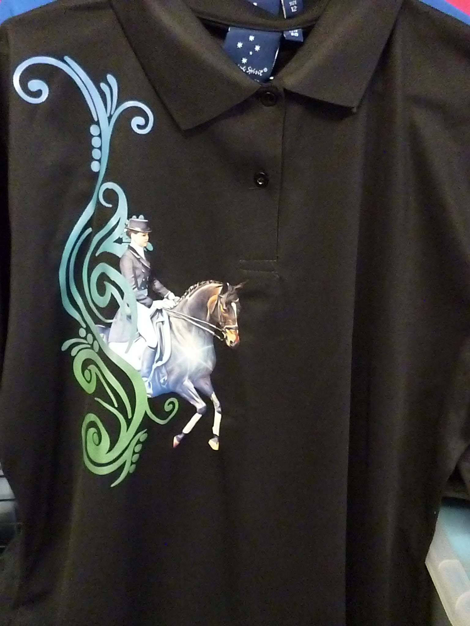 Black ladies size 20 dressage polo