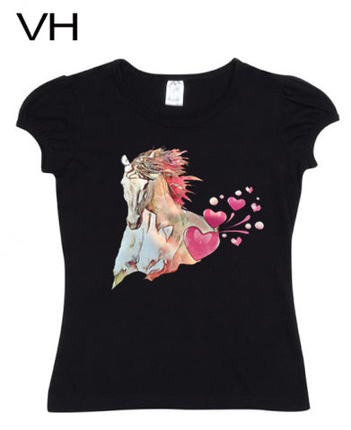 Little Ladies Puff Sleeve TShirts VH01