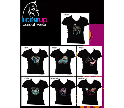Crew Neck Applique T Shirts