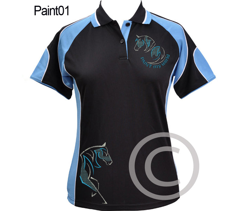 Paint01 polo shirt choose colour & size