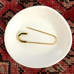 Oval Scarf Pin in Brass