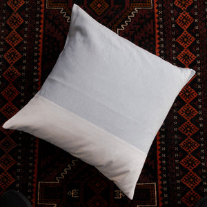 Colorblock Pillow Cover in Blue/Cream