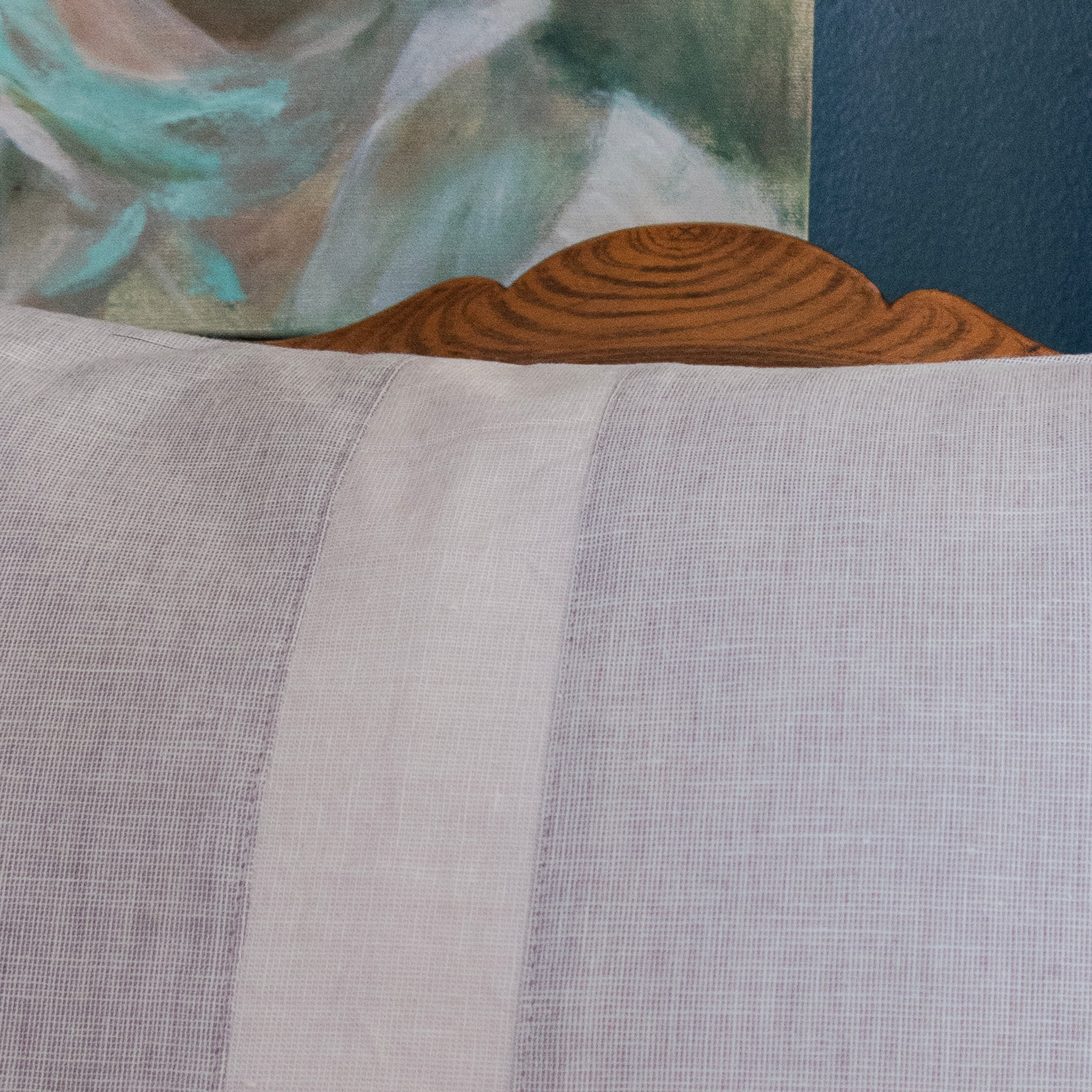 Gray Stripe Piecework Pillow Cover