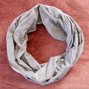Gray Chambray Circle Scarf