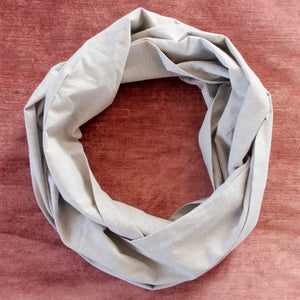 Cream Chambray Circle Scarf