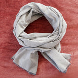 Gray Chambray Scarf