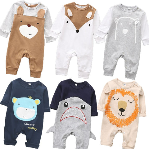 Cute animals Spring Baby romper newborn baby clothes Kids long sleeve underwear cotton boys Clothes Baby girls romper