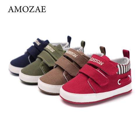 Baby Boys and Girls Shoes Sole Soft Canvas Solid Footwear For Newborn Baby Shoes Toddler Crib Moccasins 14 Styles Available