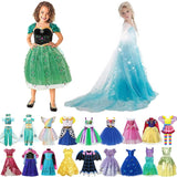 Girl Elsa Anna Dress Costumes Kid Party Dresses Baby Girl Clothes Unicorn Tianan Belle Arabian Girls