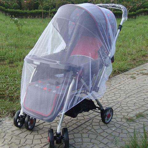 Baby Stroller Pushchair Mosquito Insect Shield Net Safe Infants Protection Mesh Stroller Accessories Mosquito Net 150cm -  - BabyShop18