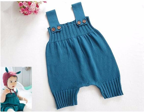 Spring Baby Romper Newborn Baby Clothes Baby Girls Boys Sleeveless Jumpsuit clothes Infant Knitted Rompers -  - BabyShop18