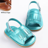 stylish pu leather tassel baby moccasins tassel girls baby shoes Scarpe Neonata hook and loop outdoor shoes hard rubber bottom -  - BabyShop18