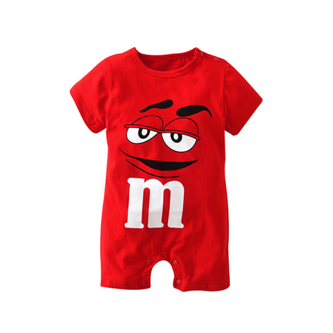 baby boys girls clothes newborn blue and red Long sleeve Cartoon printing Jumpsuit Infant clothing set -  - BabyShop18
