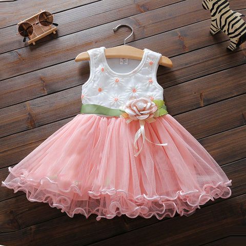 Summer print dress for birthday party, looks like princess tutu, looks cute -  - BabyShop18