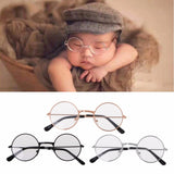Newborn Baby Clothing Accessories Girl Boy Flat Glasses Photography Props Gentleman Studio Shoot