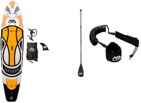 Magma + Carbon Glide 3 Piece Adjustable Paddle + Leash