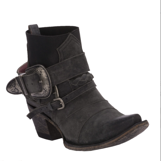 Hwy 237 in Distressed Black from Junk Gypsy by Lane Boot Co. Style #JG0026D - Boot Lovers