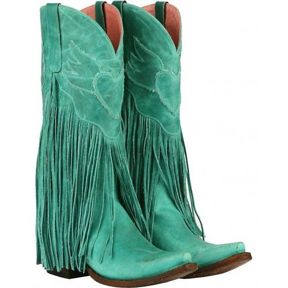 Dreamer in Turquiose from Junk Gypsy by Lane Boot Co. Style JG0004D - Boot Lovers