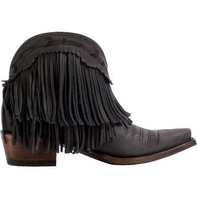 Spitfire in Black from Junk Gypsy by Lane Boot Co.  Style # JG0007B - Boot Lovers