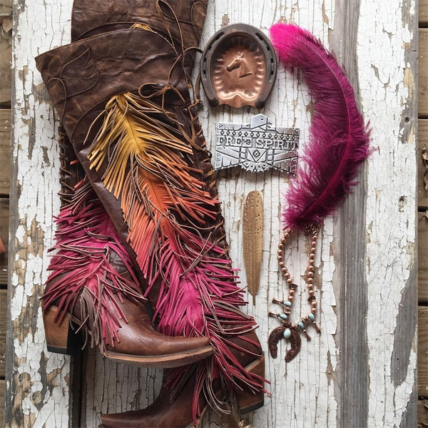 Spirit Animal in distressed brown from Junk Gypsy by Lane Boot Co. Style # JG0022A - Boot Lovers