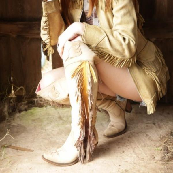 Spirit Animal in Bone from Junk Gypsy by Lane Boot Co. Style # JG0022C - Boot Lovers