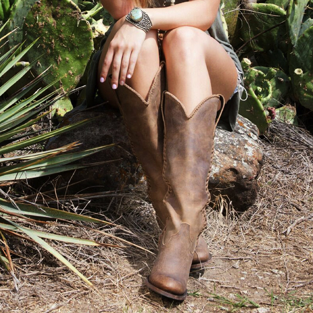 Plain Jane in Distressed Brown from Lane Boot Co. Style #LB0350A - Boot Lovers