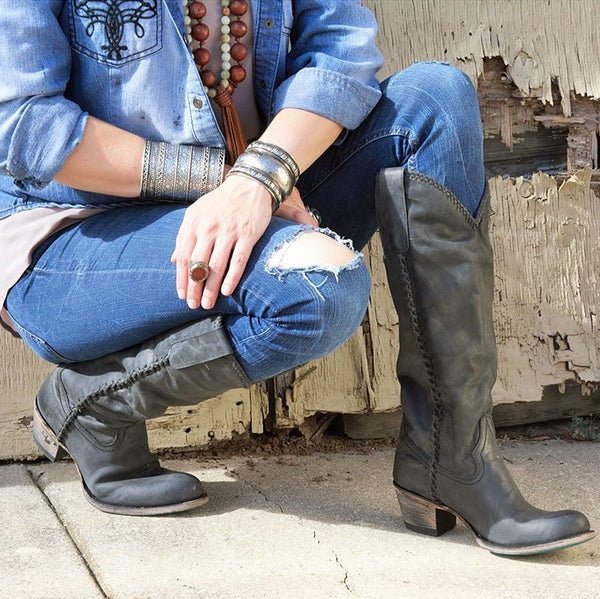 Plain Jane in Charcoal Black from Lane Boot Co. Style #LB0350E - Boot Lovers