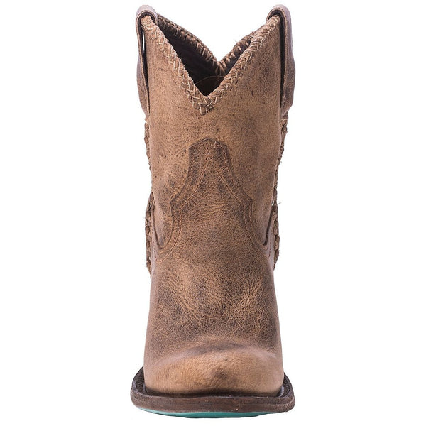 Plain Jane Shortie in Distressed Brown from Lane Boot Co. Style #LB0359A - Boot Lovers