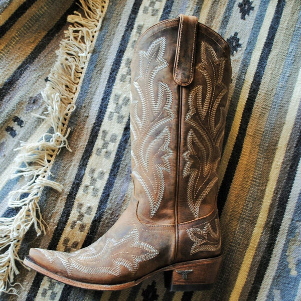 Saratoga Cowboy Boots in Caramel Brown by Lane Boot Co. style LB0389A - Boot Lovers