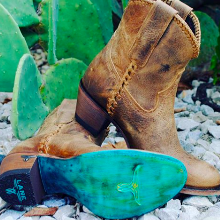 291abfc7c25 Plain Jane Shortie in Distressed Brown from Lane Boot Co. Style #LB0359A