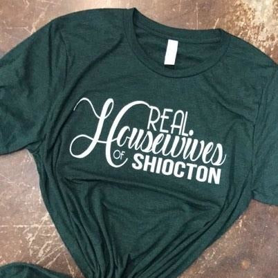 Real Housewives Of Shiocton Graphic T-Shirt in Black, Burgundy and Hunter Green - Boot Lovers