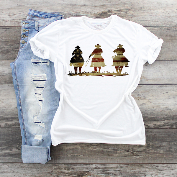 Patriotic Cowboys Unisex Graphic T-shirt