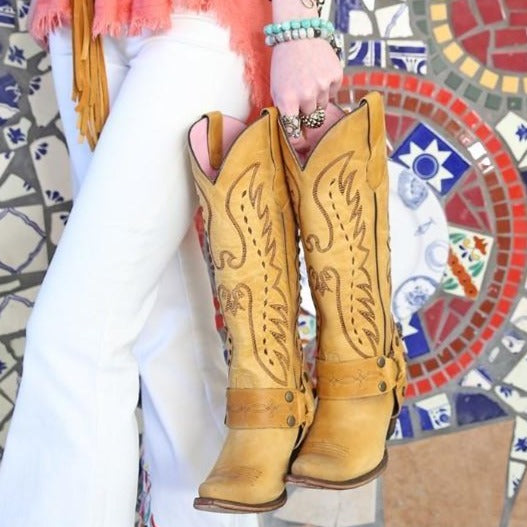 Vagabond in Mustard from Junk Gypsy by Lane Boot Co. Style #JG0030C