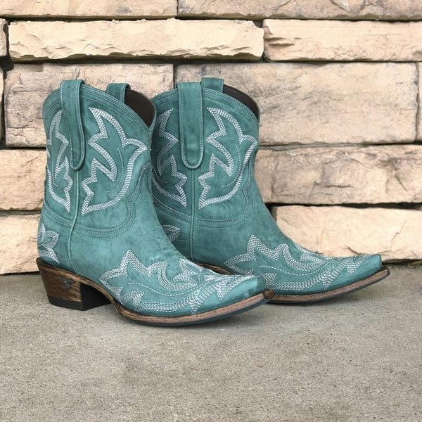 Saratoga Ankle Bootie in Turquoise