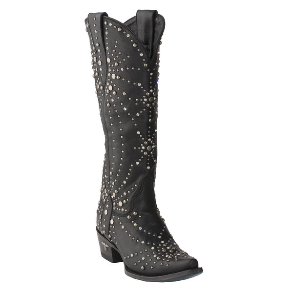 Sparks Fly Cowboy Cowgirl boot in jet black
