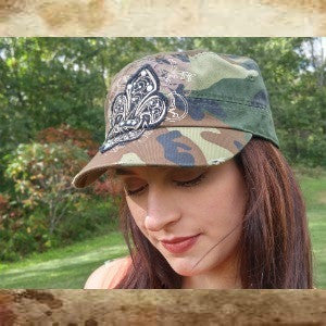 Blazin Roxx army camo baseball cap with Fluere-De-Lis embellishment - Boot Lovers