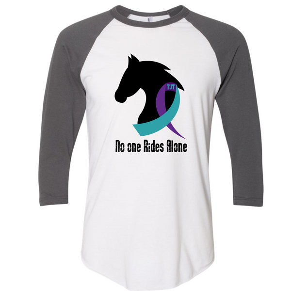 No one Rides Alone Suicide Awareness 3/4 Sleeve Raglan Shirt
