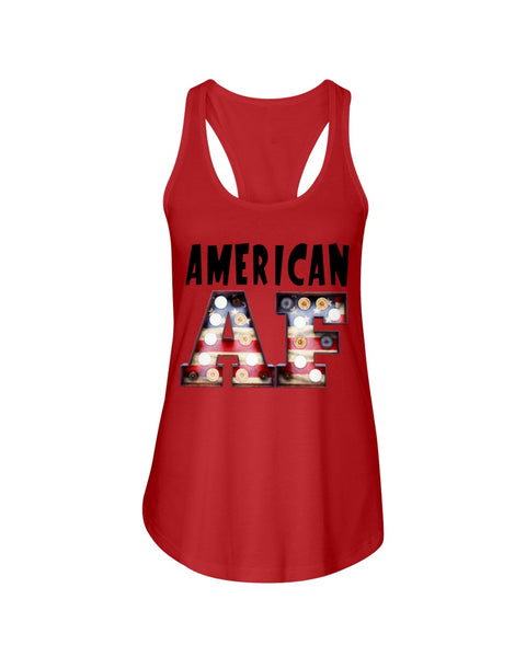 American AF Ladies Racer-back Tank Top