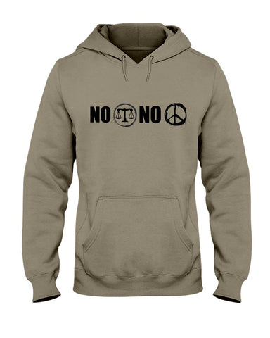 No Justice No Peace Graphic Hoodie Sweatshirt