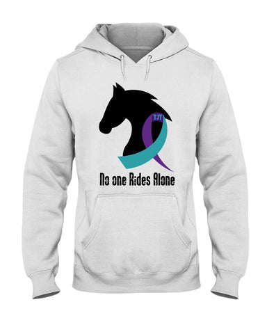No One Rides Alone Suicide Awareness Hoodie Sweatshirt