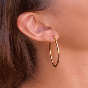 Midi Oval Hoop Earrings