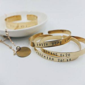 Brass Stamping Jewelry Workshop - March 17 Saturday (9am-12nn)