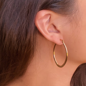 Plain Circle Hoop Earrings