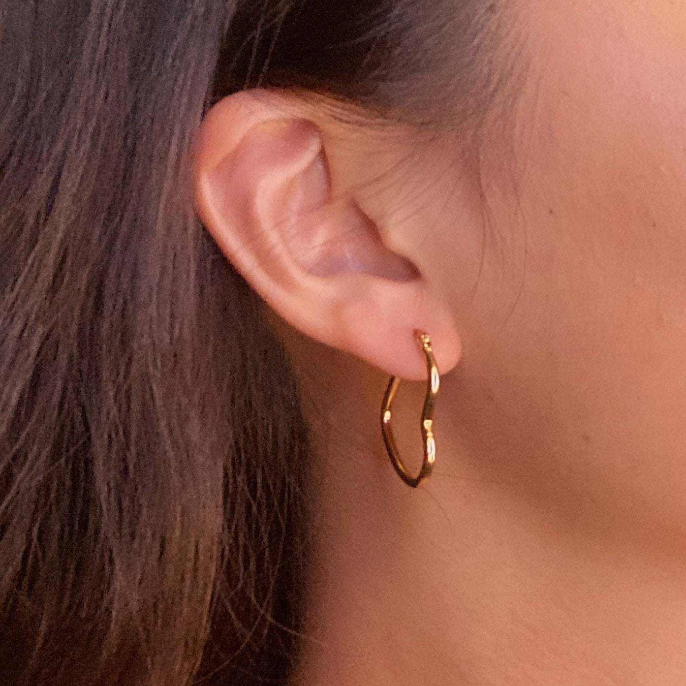 Midi Heart Hoop Earrings